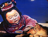 Oil paintings. China period.