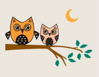 Illustration--Owls