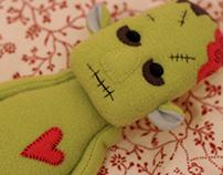 Zombie plush friend