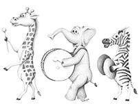 Safari Animal Parade Illustration