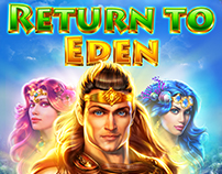 ART DIRECTION FOR SLOTOMANIA SLOT -RETURN TO EDEN