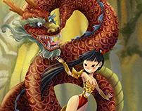 Sashira and her dragon