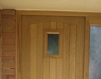 A simple European Oak door set