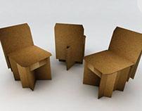 Silla de Cartón Plegable