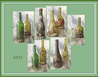 Wine Bottle Luminaries