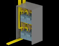 Abrigo para medidores de gás