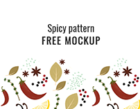 Spicy pattern FREE mockup