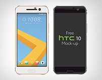Free Vector HTC 10 Mockup Ai & Eps