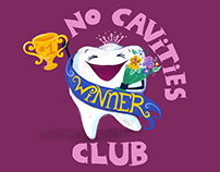 No Cavities Club digital painting illustration