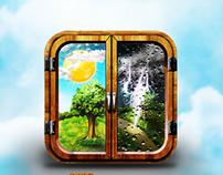 Weather app icons