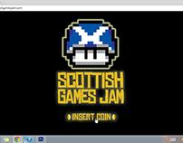 Scottish Games Jam Site Design (2014)