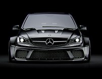Black & White Mercedes-Benz C63