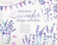 Watercolor Lavender design collection