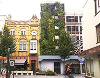 Groene gevel parkeergarage Geleenstraat, Heerlen