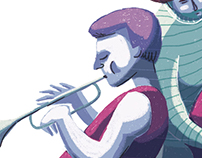Jazz musicians (inspired by Miles Davis)