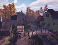 Unity3D - The village of 18th century