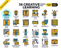 Creative Learning Icon set