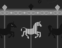 Illustration_Like a zebra in a carousel