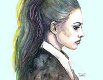 Watercolor / Portraits / Aquarelle