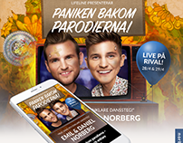 """Kampanjsida för """"Paniken bakom parodierna"""""""