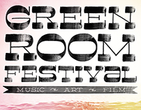Greenroom Festival 2015 Logo Type and Imagery