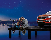 KIA Sportage. Your bright moments. KV, etc.