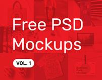 Free PSD Mockups vol. 1