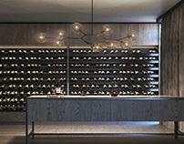 wine cellar | luxurouis house in switzerland.
