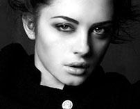 photo project in black - white. Portraits. Studio.