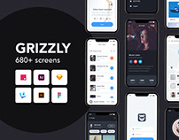 Grizzly | Mobile App Ui KIt