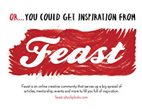 Feast Print Advertising