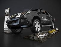 Exhibición para concesionarios - Chevrolet Dmax