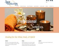 Website for Spa Revolution of Ocala