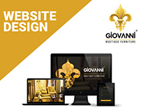 Giovanni Boutique Furniture Website Design