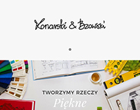 Konarski & Bzowski - minimalist website