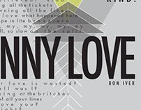 Skinny Love Poster Design • Bon Iver | School Project