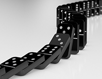 Domino Effect Falling