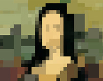 Censorship Monalisa - Portrait from a famous person