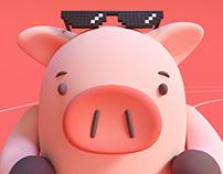 Happy Coral Pig