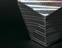 geometric bag / hologram silver