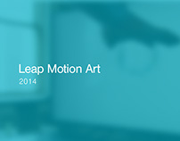 Leap Motion Art - Instalation