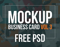 Free PSD - Business Card Mockup Volume 3