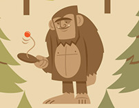 How Bigfoot staves off boredom