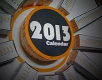 3D Infographic Calendar 2013
