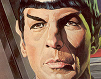 Spock portrait - Sci-fi Hall of Fame