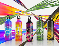 peace water bottles