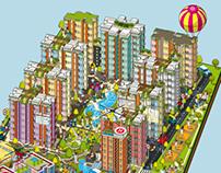 Bhartiya City - City of Joy - Advertising Campaign Map