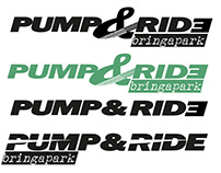 Pump & Ride pumptrack logo and branding design