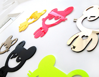 Plastic 3D Wall Stickers