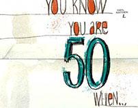 Golden Jubilee Birthday Card